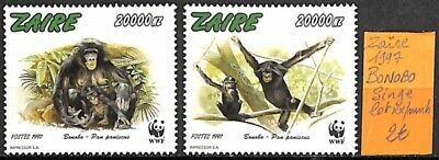 [836412] TB||**/Mnh || - Zaïre 1997 - Bonobo, Lot **/mnh, Singes, Animaux