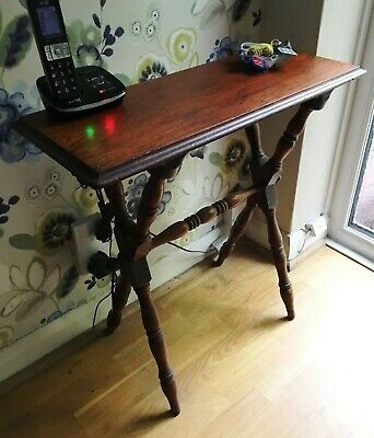 Small Edwardian Teak Occasional Table