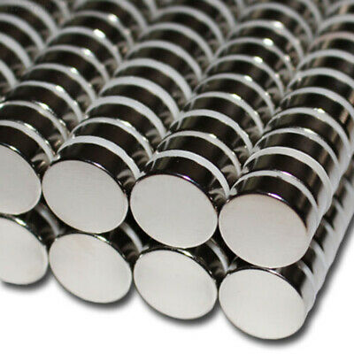 69DE Neodymium Round Silver Magnetic Stone Magnets Extremely Strong Discs