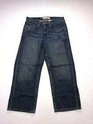 LEVI'S 569 Loose Straight Jeans - W33 L28 - Blue - Great Condition - Boy's