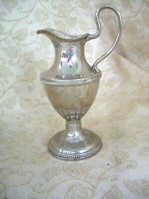 VINTAGE GRENADIER SILVER PLATED WINE JUG EWER SMALL 12cm H GRAPEVINE