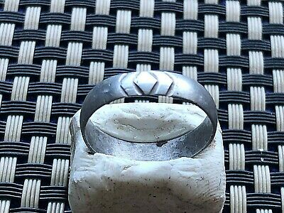 Ancient Celtic Silver Wedding Ring Circa 200 Bc - 200 Ad Very Rare And Scarce