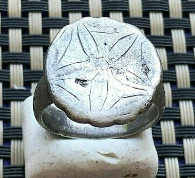 Ancient Roman Massive Legionary Silver Ring Circa 100-300 Ad Very Rare