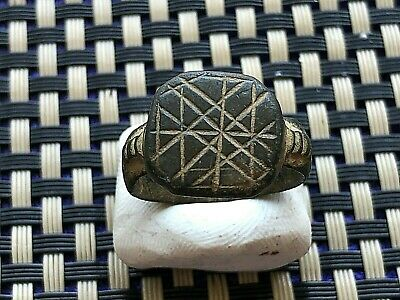 <<Incredible Ring>> Ancient Roman Bronze Ring Circa 100-300 Ad Very Rare