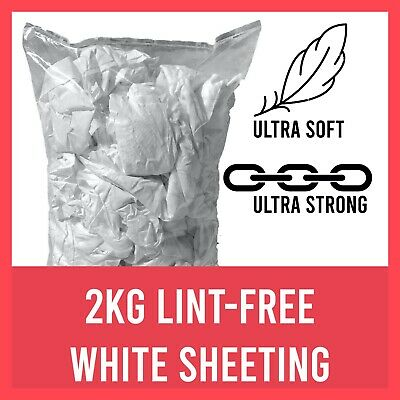 2kg White Cotton Lint Free Cleaning Polishing Cloths Rags Wipers