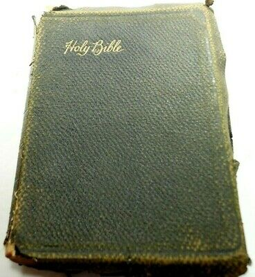 Antique Holy Bible Genealogy: Brown/Flynt/Pagett 1800's - 1944 Georgia READ