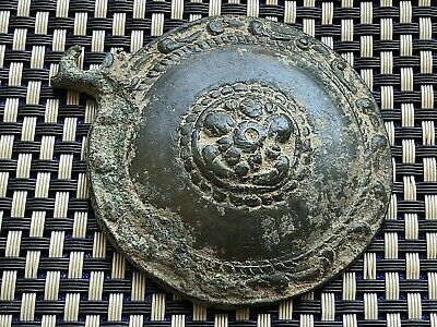 HUGE ANCIENT BYZANTINE MEDIEVAL BRONZE BUCKLE 9th - 13th CENTURY AD