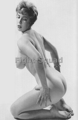 Picture Photo Erotic antique vintage art nude big breasts amazing woman 3390