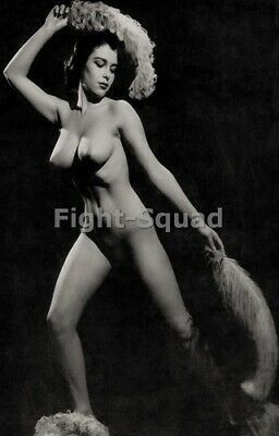 Picture Photo Erotic antique vintage art nude big breasts amazing woman 3398