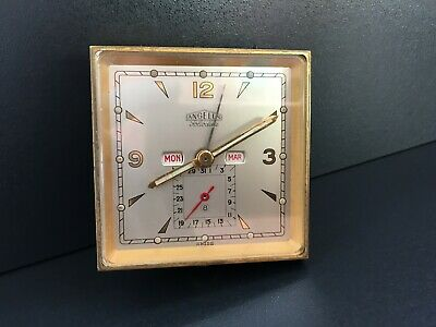 "Angelus Foliodate 8 Days Triple Calendario Travel Watch ""Vintage 1940"""