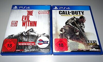 2 Playstation 4 Spiele: Call Of Duty Advanced Warfare + The Evil Within