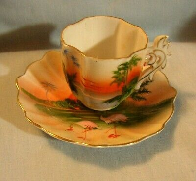 HAND PAINTED MADE in Occupied Japan Set of 2 Saucers - $4 00 | PicClick