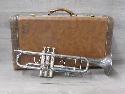 Bach Stradivarius Silver Plate Trumpet Model 72 With Case