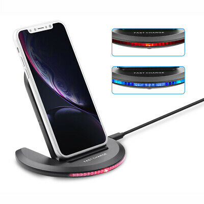 NEW Qi Wireless Fast Charger Foldable Stand Pad for Samsung Galaxy Note S10 S9