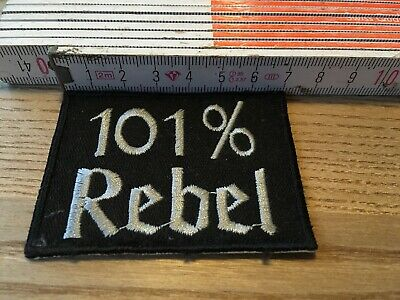 Aufnäher Patch Kutte MC Biker Weste Banner 101% Rebel Outlaw BW Streetfighter