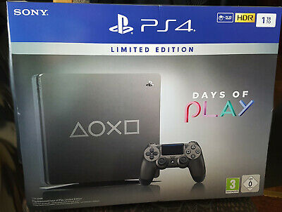 "Playstation 4 (PS4) 1TB slim Limited Edition - ""Days of Play"" + Controller + NEU"
