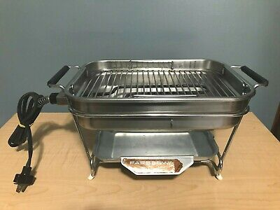 WORKS VTG Classic Farberware Open-Hearth Indoor Electric Grill Model 450A