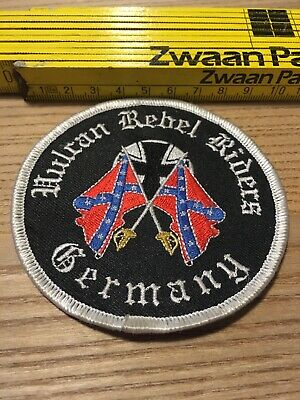 Aufnäher Patch Kutte MC Biker Weste Banner 1% Vulcan Rebel Riders Germany