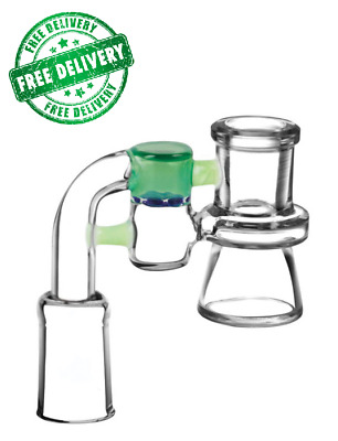 Compact Ash Catcher 14mm Female w/ Color Accents * Free USA Shipping!