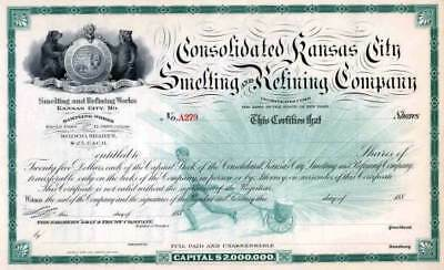 Consolidated Kansas City Smelting & Refining-Early United We Stand Image-1880's