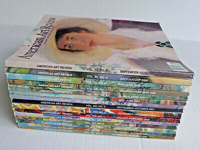 American Art Review Magazine ~ Lot of 15 Issues from Years 2000/2001/2002