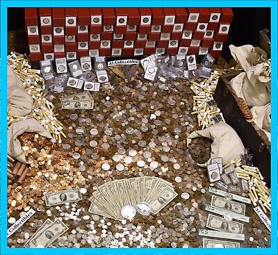 🇺🇸 Old Us Estate Sale Gold .999 Silver Bullion Pcgs Coins Money Mixed Lot 🇺🇸