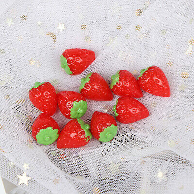 10Pcs 1:12 Dollhouse miniature strawberry doll house kitchen accessor Gc