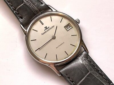 slick jaeger lecoultre automatic date swiss made wristwatch