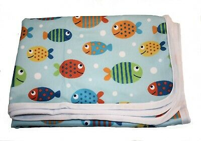 Baby change mat 2 layers Travel Changing Mat Diaper Bag handbag 50x70cm Fish