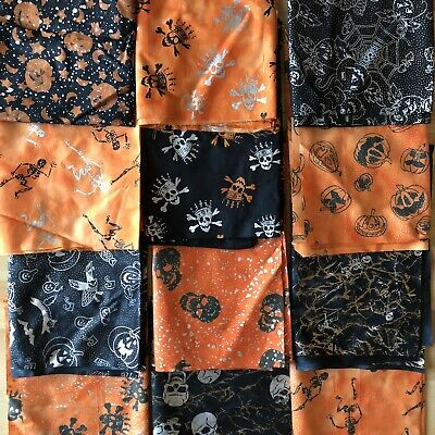 "2015 Release Nightmare Before Christmas Halloween Fabric BTFQ 18/"" x 22/"""