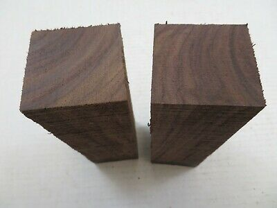 """(2) LOT 2,  ROSEWOOD POOL CUE BLANK TURNING WOOD KNIFE SCALES  2"""" x 6"""" FREE SHIP"""