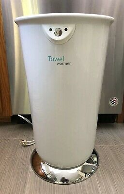 647156 Brookstone Tall Large Capacity Towel Blanket Robe Clothes Warmer Spa Home