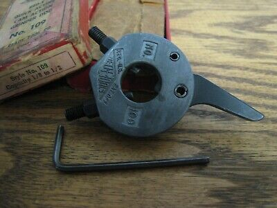 """No. 109 Ready Tool Company Quick Acting Cam Action Grinder Dog 1/8""""-1/2"""" - Nice!"""