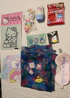 490053b29 Hello Kitty Loot Crate item lot Sweet Dreams and Splash boxes Doki Crate  Item