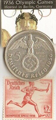 *1936-*german Olympic stamp+SILVER  EAGLES(.900%) coin+*1956-SAAR- Olympic stamp