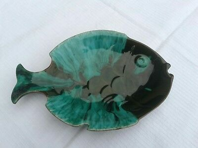 Vintage Blue Mountain Pottery BMP Canada Ceramic Fish Candy Dish Ashtray~Marked