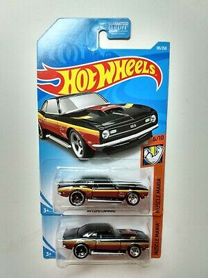 '68 Copo Camaro #181 2019 Hot Wheels Muscle Mania HTF Brown Variations Lot of 2