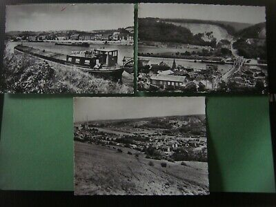 Lot de 3 cartes de ENGIS ( Rue Vinâve / Panorama et carrières / Panorama )