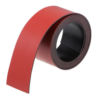Dry Erase Flexible Magnetic Strip 1 Inch x 3.3 Feet Stickers Writable Red