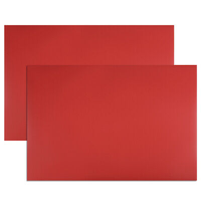 """2 Pcs Dry Erase  Magnetic Strip 11.7"""" x 8"""" Labels Stickers Writable Red"""