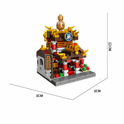 Chinese Traditional Ancient Shop Street View Building Blocks Bricks Figures Toys