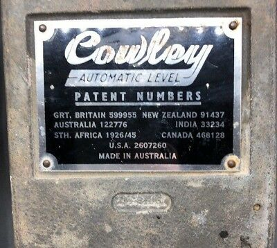 Vintage COWLEY AUTOMATIC LEVEL Made in Australia in Box