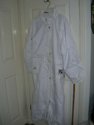 EMSMORN Bowls White Waterproof Coat with Hood lady's XL Excelllent