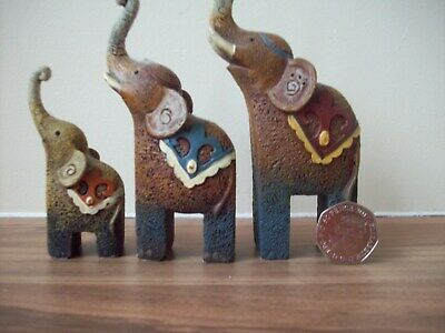 elephant ornaments x 3 mum dad baby