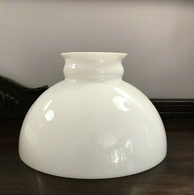 "Vintage Or Antique White Milk Glass Oil Lamp Shade For 10"" Fitter"