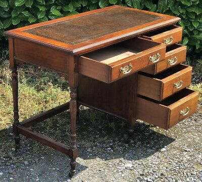 Superb Small Walnut Art Deco Writing Desk  2 Man Delivery Available