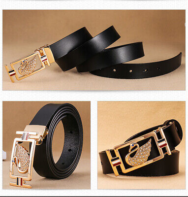2019 Women Luxury Jeans Belt strap Classic Buckle Handcrafted Genuine Leather