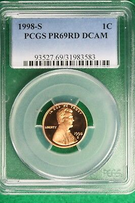 1998-S PCGS PROOF PR 69 RED DEEP CAMEO  Lincoln Memorial Cent!! #B10217