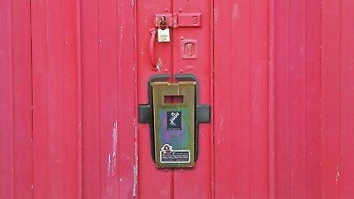 Container security lock  box, weld on fixings, Left or Right hand doors