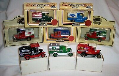 Eight Lledo Promotional Lp-8 Ford Model T Tankers Shell Bp Cole's Unigate Mib